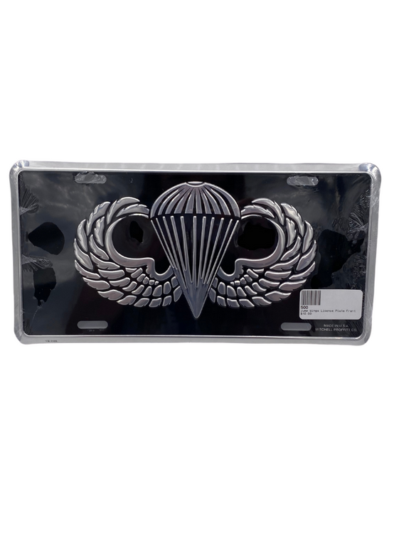 Jump Wings Licence Plate Front