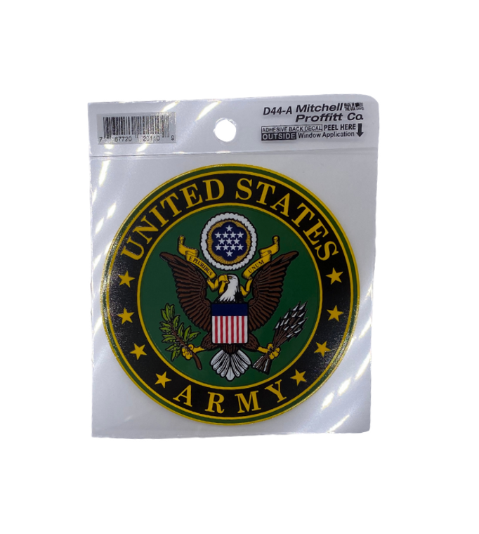 US Army Insignia Decal 4 Inch Round