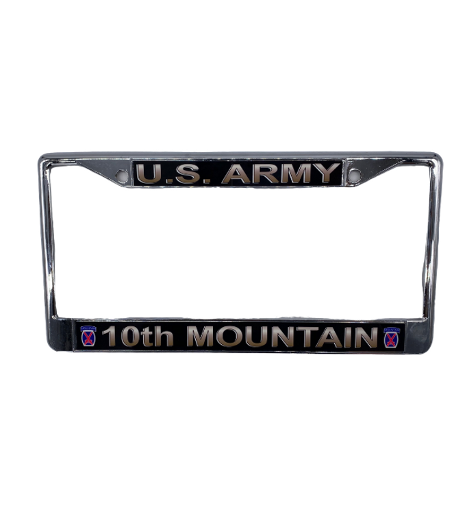 10th Mountain License Plate Frame