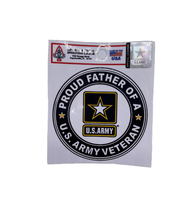 Proud Father Circle Decal