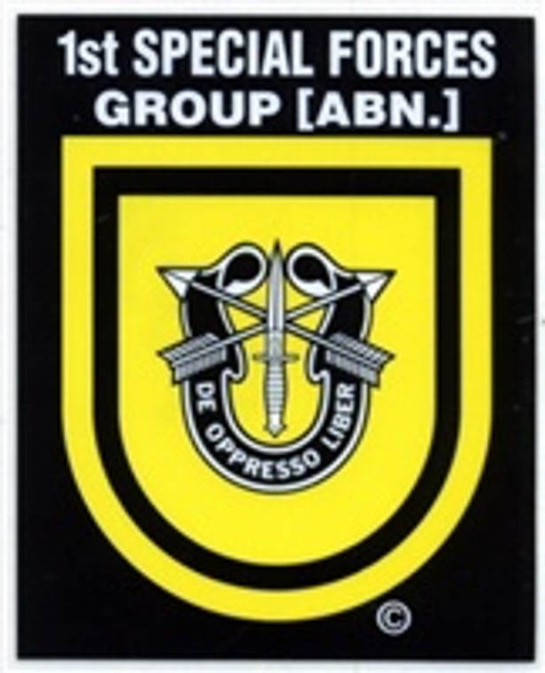 1st SF Group ABN Small Decal