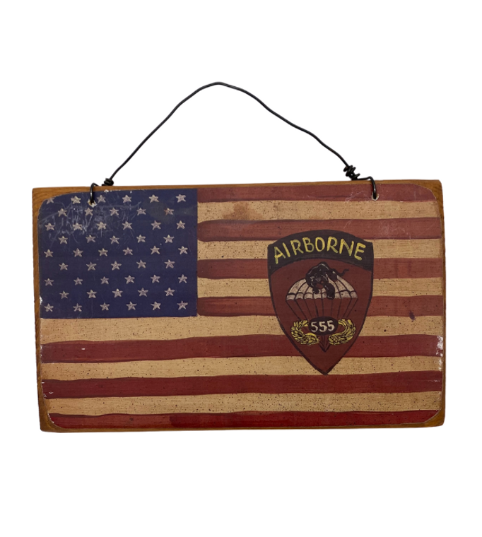 Americana Flag Plaque 555th