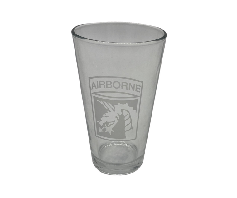 18th ABN Corps Pint Glass