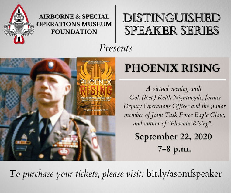ASOMF Distinguished Speaker Series: A Virtual Night With Col. (Ret.) Keith Nightingale