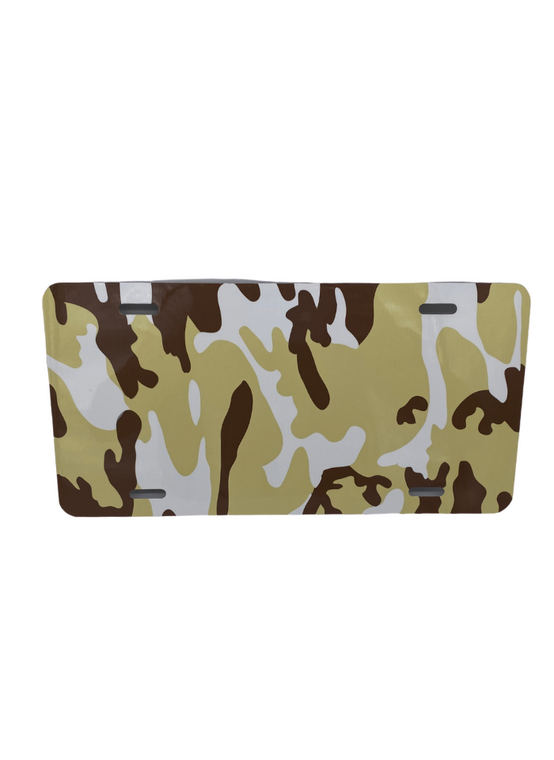 Camo Metal License Plate