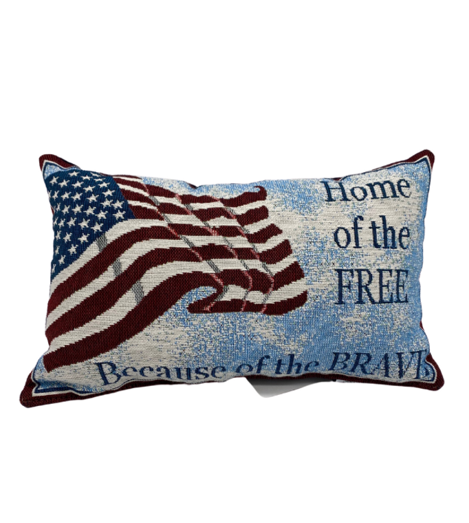 Home of the Free Message Pillow