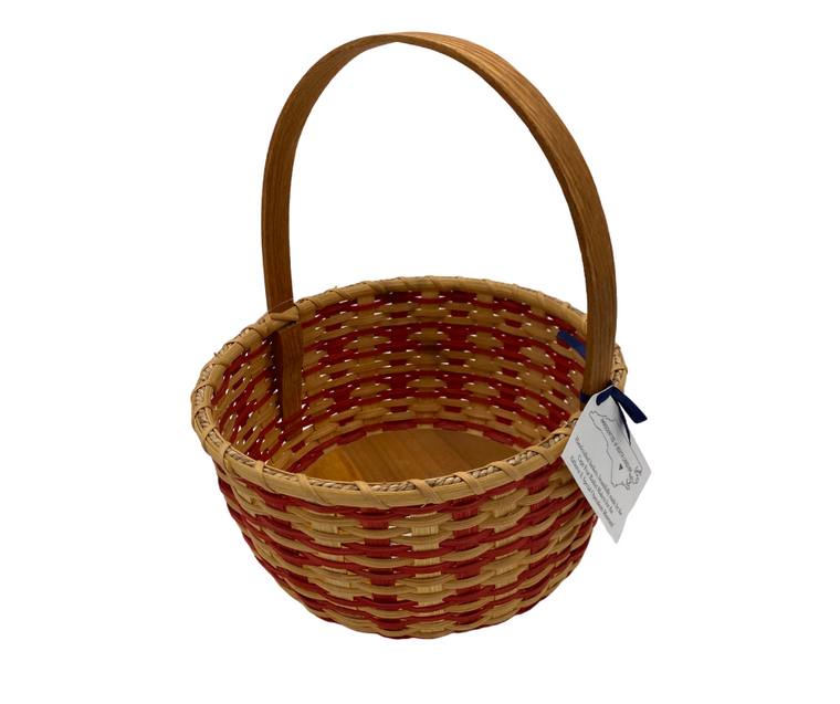 Red Round Farm Basket
