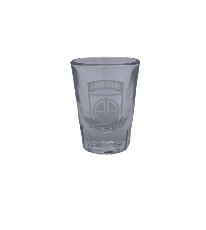 82nd Airborne Shot Glass