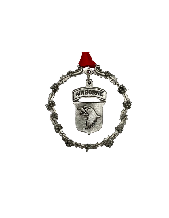 101st Pewter Ornament