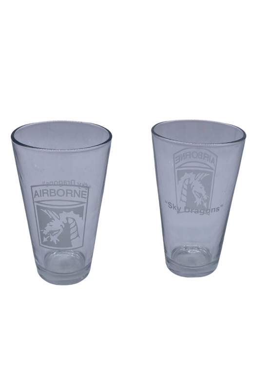 18th CORPS Pint Glass