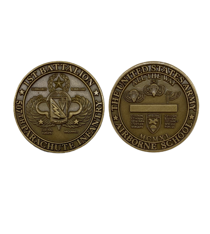 1/507th Ft Benning Coin