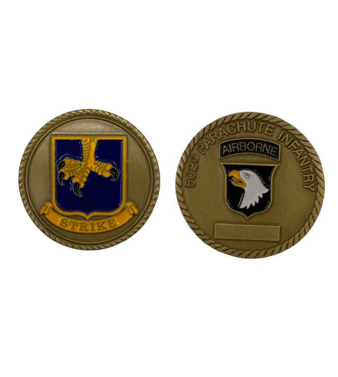 502D ABN Infantry Coin