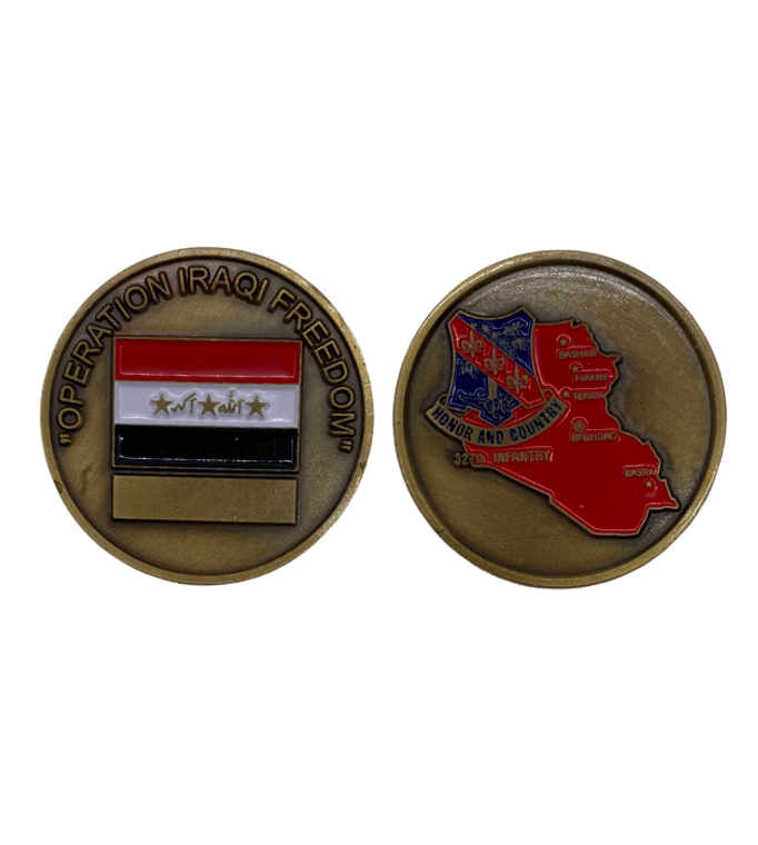 327th Infantry Coin Iraq