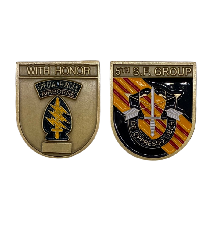 5th SF Group Beret Flash Coin