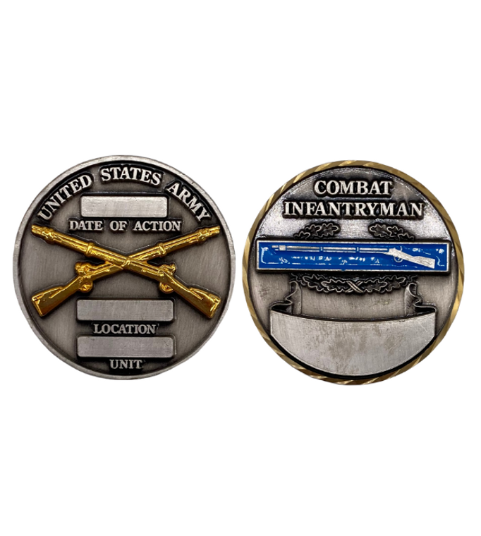 Combat Infantry Coin