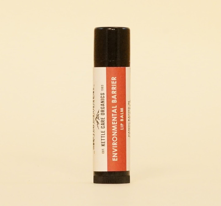 Environmental Barrier Lip Balm, Handcrafted in Montana, 0.2 oz tube, black plastic with red label