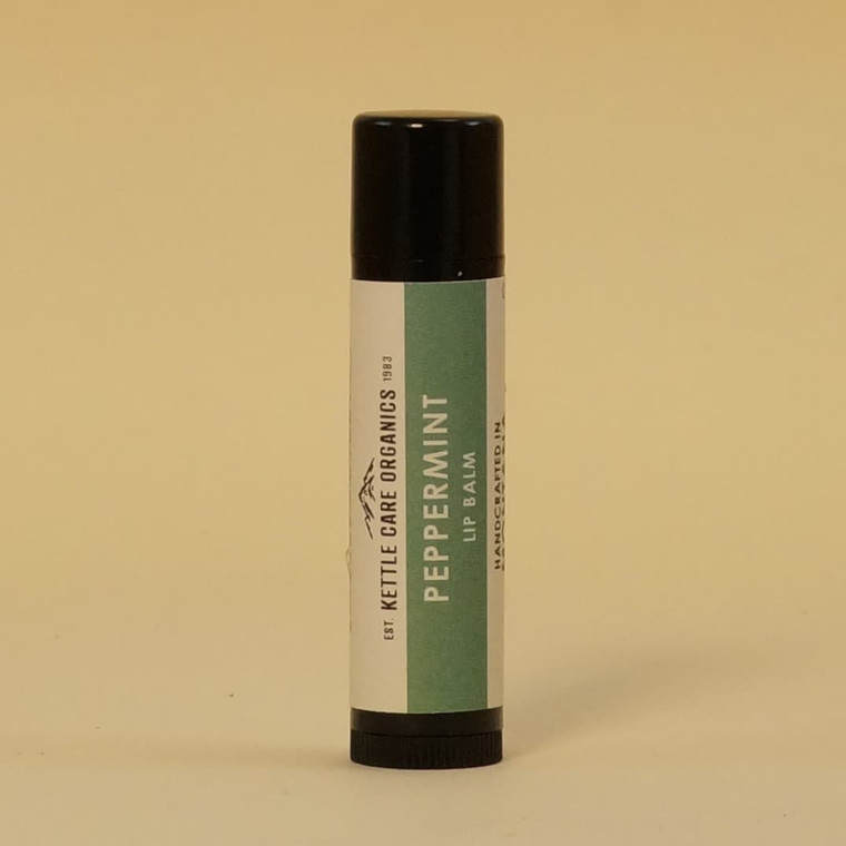 Peppermint Lip Balm, Handcrafted in Montana, 0.20 oz tube, green label