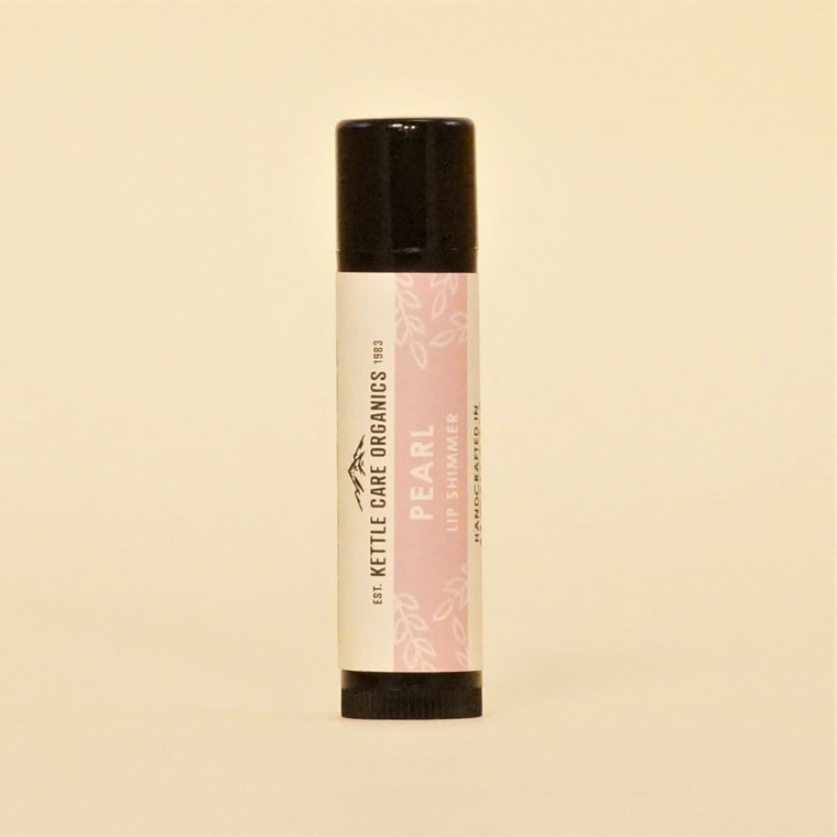 Pearl Lip Shimmer, Handcrafted in Montana, 0.20 oz, pink label
