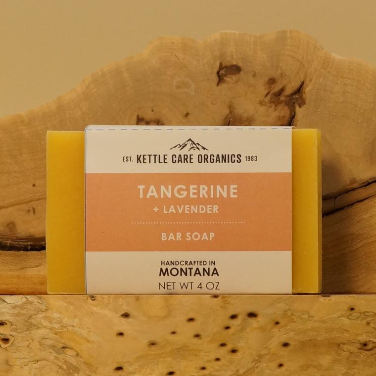 Tangerine Bar Soap with Lavender, 4 oz, orange label