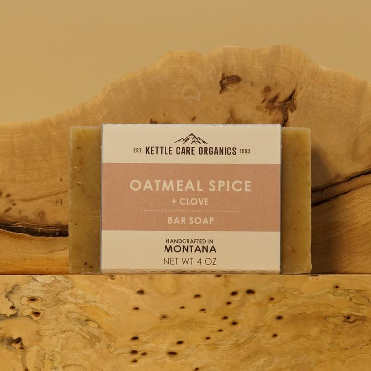Oatmeal Spice + Clove Bar Soap, 4 oz, beige label