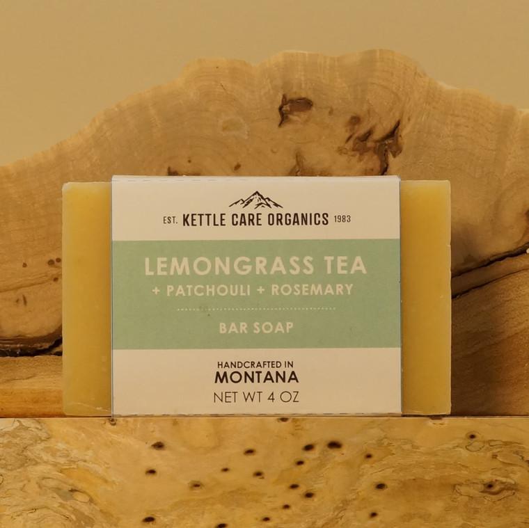 Lemongrass Tea Bar Soap, 4 oz, mint green label