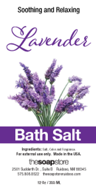 Lavender Bath Salts, 12 oz. Tube