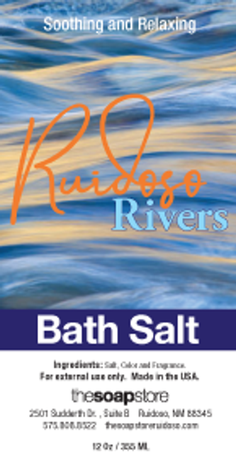 Ruidoso Rivers Bath Salts, 12 oz. Tube