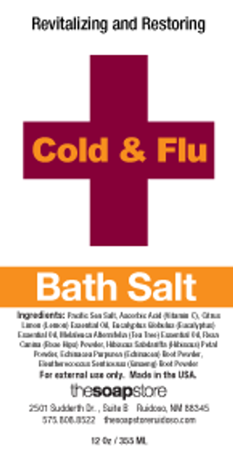 Cold & Flu VITAMIN SOAK Bath Salts, 12 oz. Tube