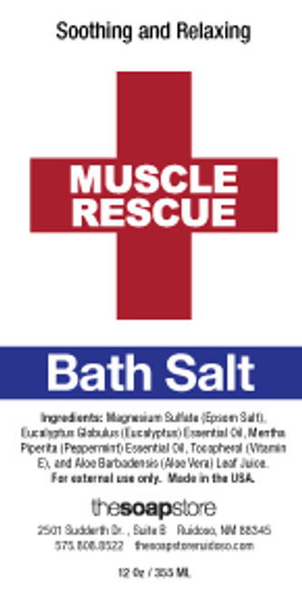 Muscle Rescue Epsom Bath Salt, 10 oz. tube