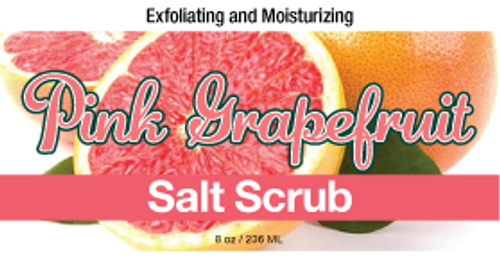 Pink Grapefruit Salt Scrub, 8 oz.