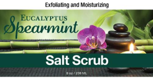 Eucalyptus & Spearmint Salt Scrub, 8 oz.