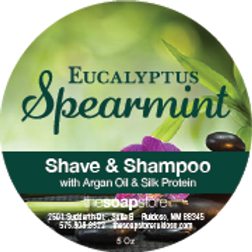 Eucalyptus Spearmint Shave & Shampoo Soap, 5 oz.