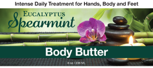 Eucalyptus Spearmint Body Butter, 8 oz.