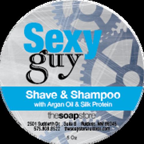 Sexy Guy Shave & Shampoo Soap, 5 oz.