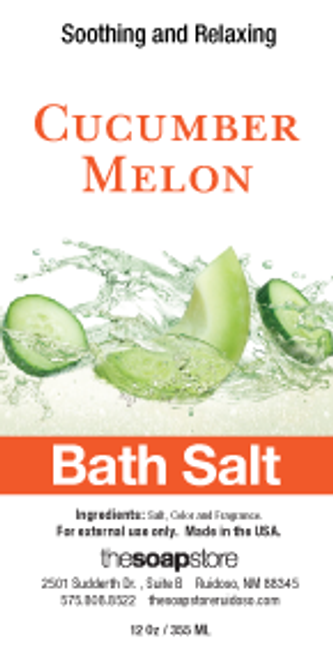 Cucumber Melon Bath Salts, 12 oz. Tube