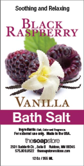 Black Raspberry Vanilla Bath Salts, 12 oz. Tube