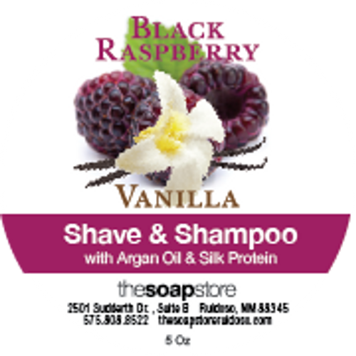 Black Raspberry Vanilla Shave & Shampoo Soap, 5 oz.