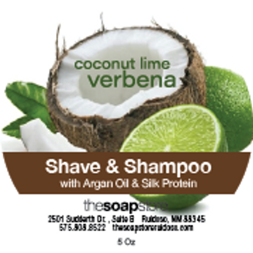 Coconut Lime Verbena Shave & Shampoo Soap, 5 oz.