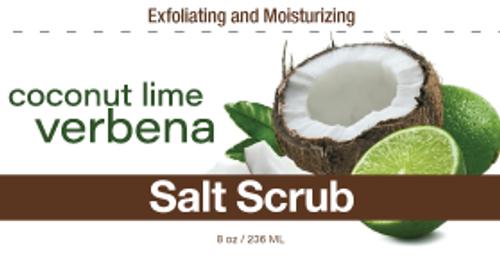 Coconut Lime Verbena Salt Scrub