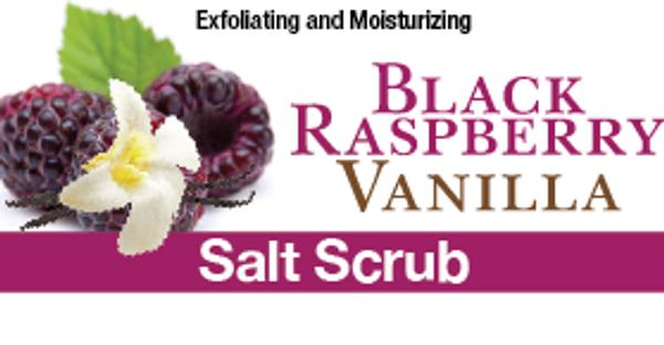 Black Raspberry Vanilla Salt Scrub, 8 oz.