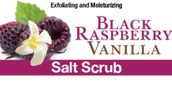 Black Raspberry Vanilla Salt Scrub, 8 oz.