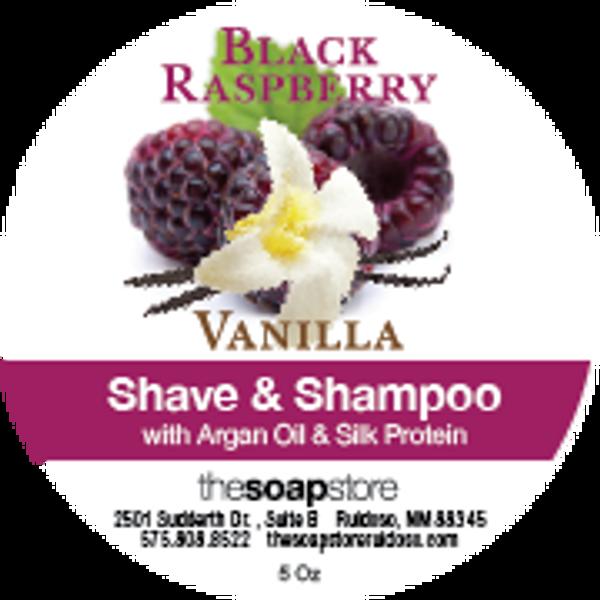Black Raspberry Vanilla Shave & Shampoo Soap, 5 oz.