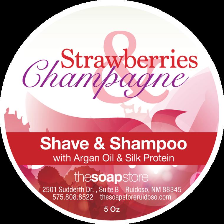 Strawberries & Champagne Shave & Shampoo Soap, 5 oz.