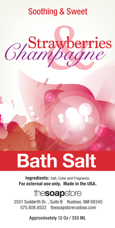 Strawberries & Champagne Bath Salts, 12 oz. Tube