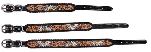 Painted Daisy Dog Collars
