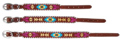 Painted Aztec Dog Collars
