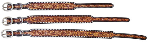Tooled Floral Dog Collars