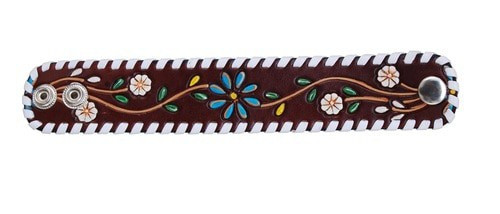 Floral Vine Leather Cuff