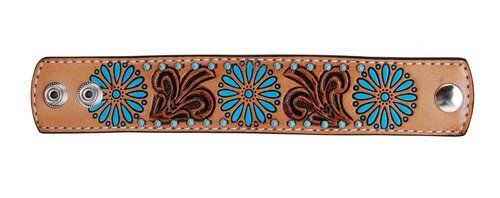 Zuni Turquoise Leather Cuff