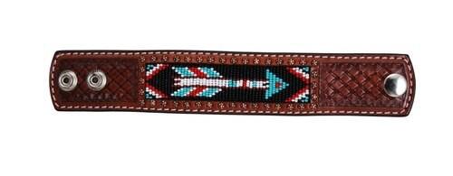 Beaded Arrow Leather Cuff